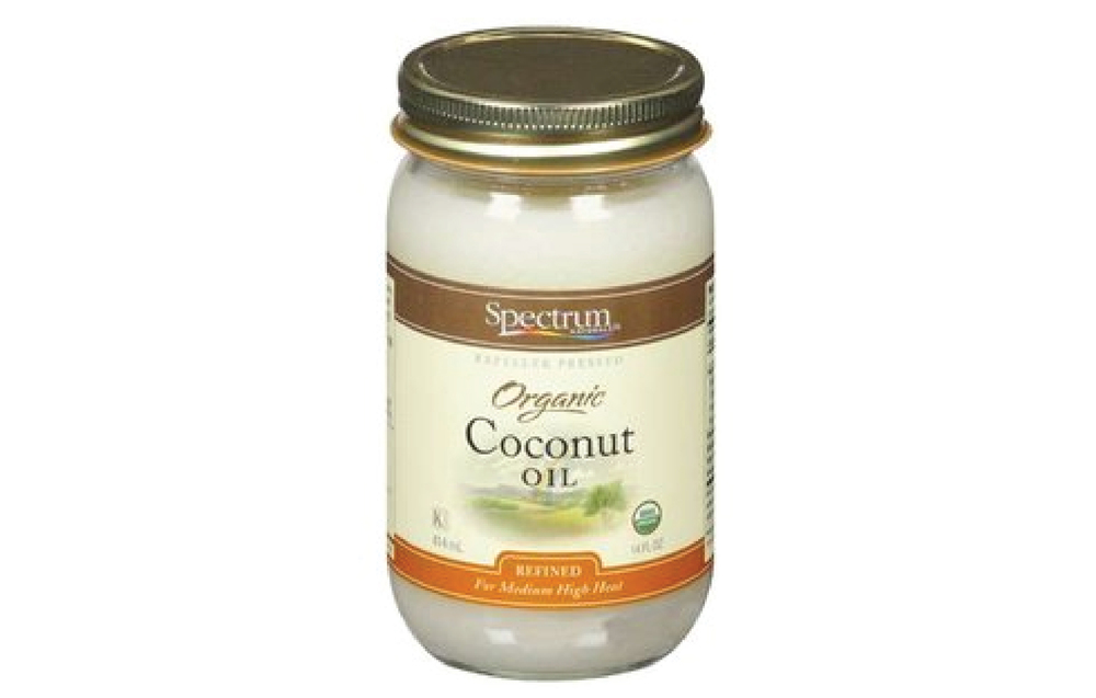 Spectrum Naturals Organic Coconut Oil is what I use (and by use, I mean I ingest it, cook with it, put it in my hair, slather it on my face, rub it into my lashes—he's my coconut co-star), and it's available at Hyvee, Walmart, and Trader Joe's, among others.