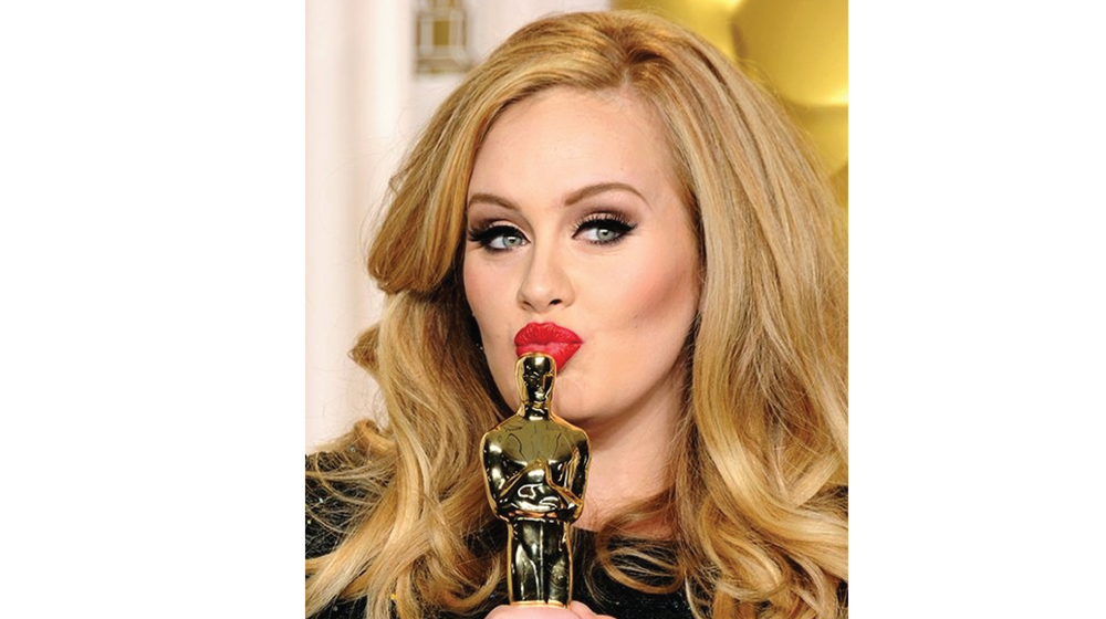 Adele look' all fancy and sculpted.