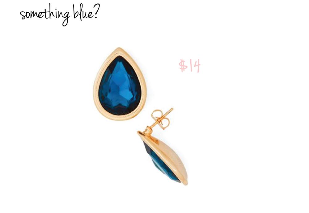 Teardrop Sapphire Earrings from ModCloth
