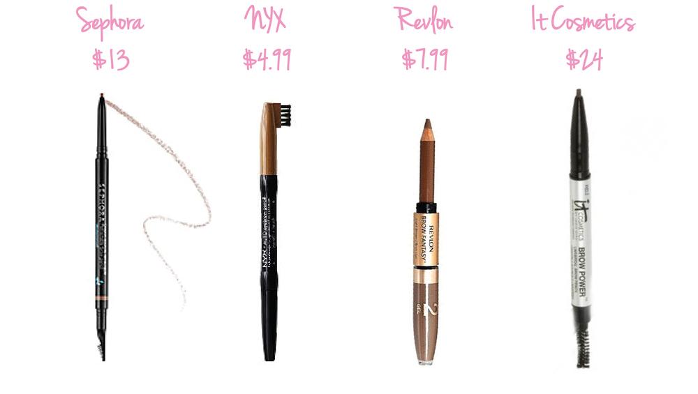 Sephora Retractable Brow Pencil • NYX Automatic Brow Pencil • Revlon Brow Fantasy Pencil & Gel • It Cosmetics Brow Power Pencil