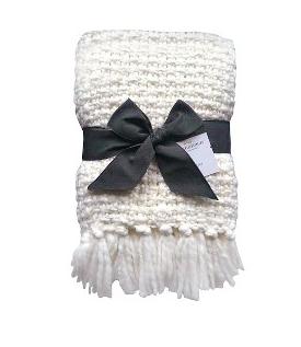 Threshold Chunky Knit Metallic Throw - $21