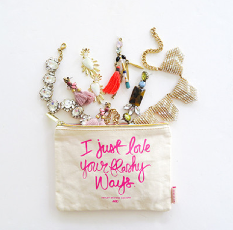 "Ashley Brooke ""I Just Love Your Flashy Ways"" Cosmetic Bag - $21"