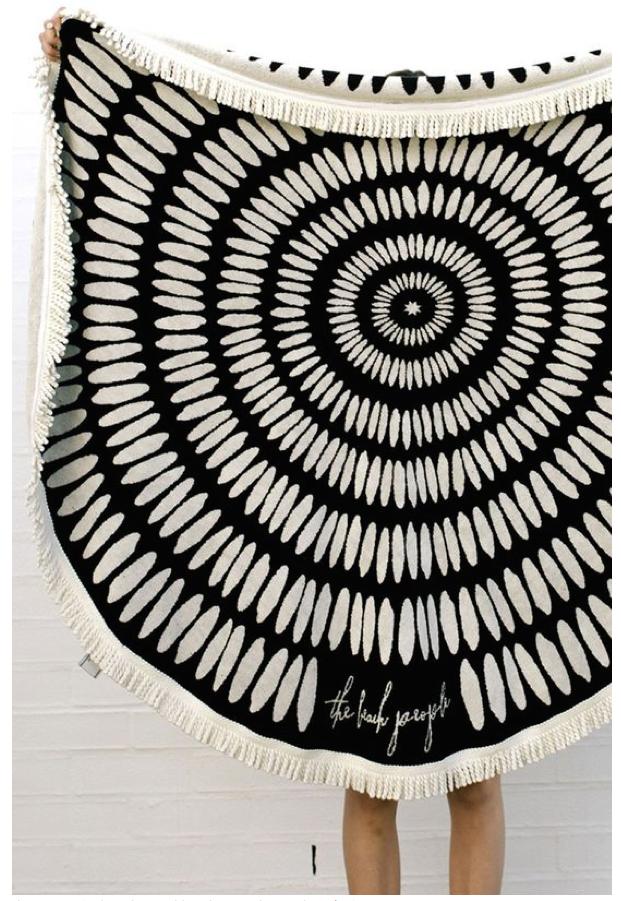 The Beach People Round Tulum Towel   $110