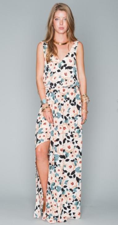 Kendall Steel Magnolia Maxi Dress   $158