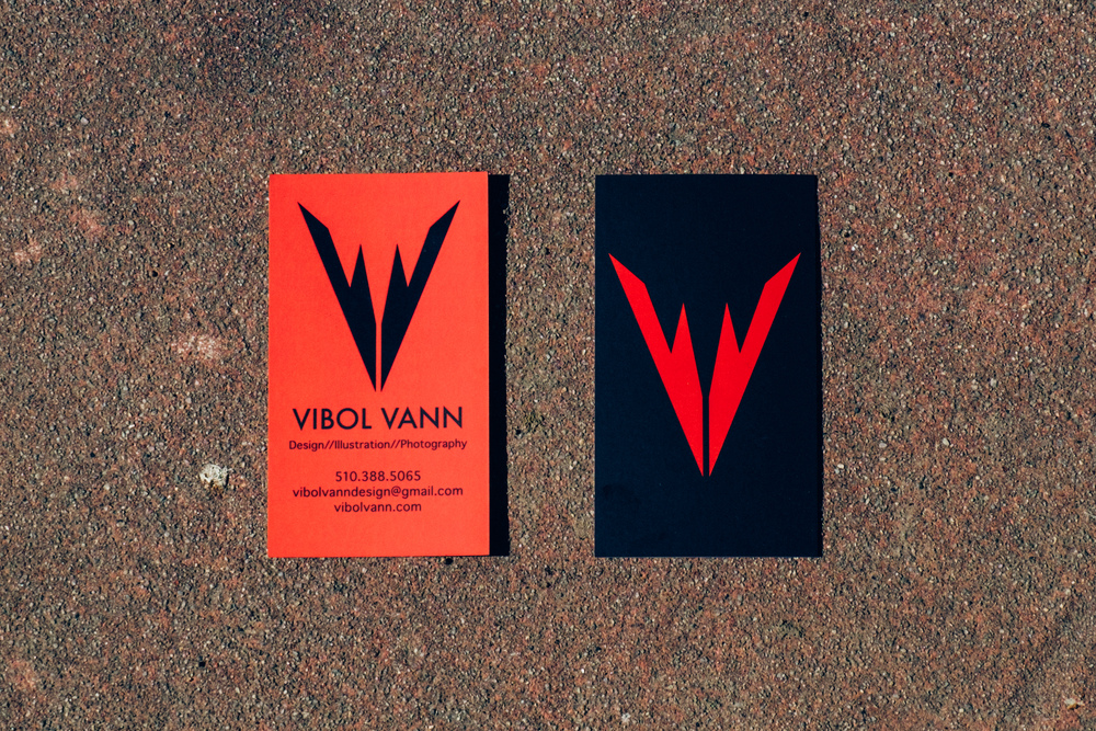Vibol vann business cards vibol vann design the standard business cards have specialty spot gloss printing for a more affordable impact for potential clients colourmoves