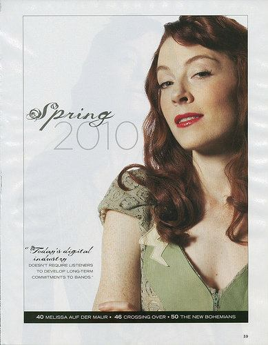 MF MAG Press - Featuring Melissa Auf Der Maur in 'The Green Lace Lightening Bolt Dress'