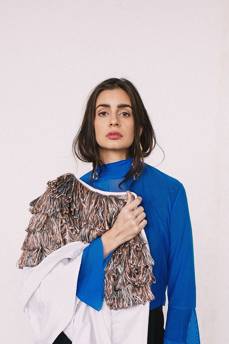 Top by Muza,bolero jacket by Skin Onion, Jewelry by Luiny