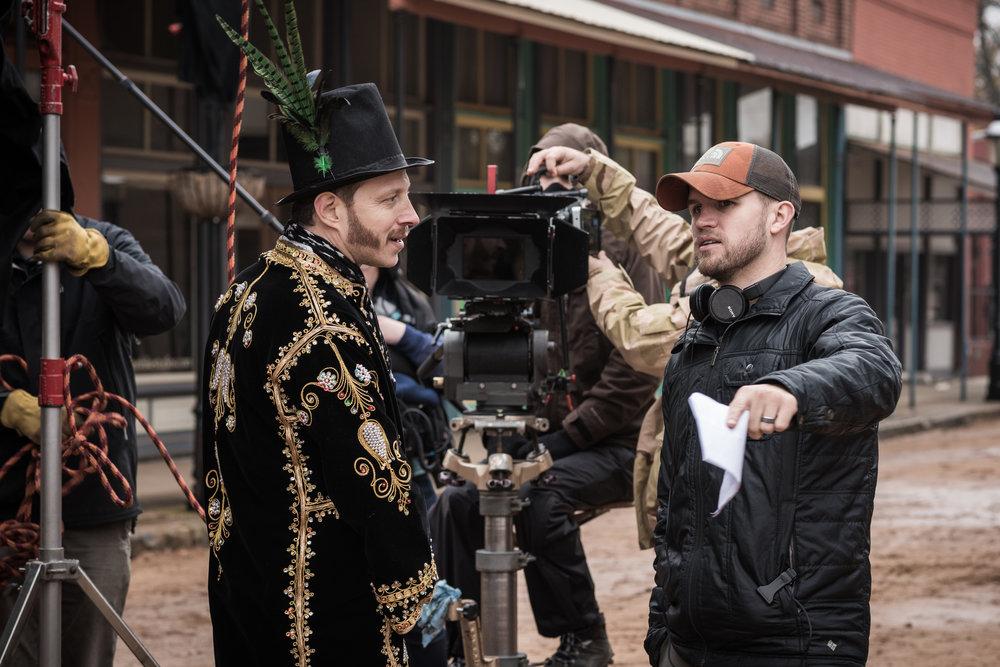 On set of The Riot Act feature film in Van Buren, AR.