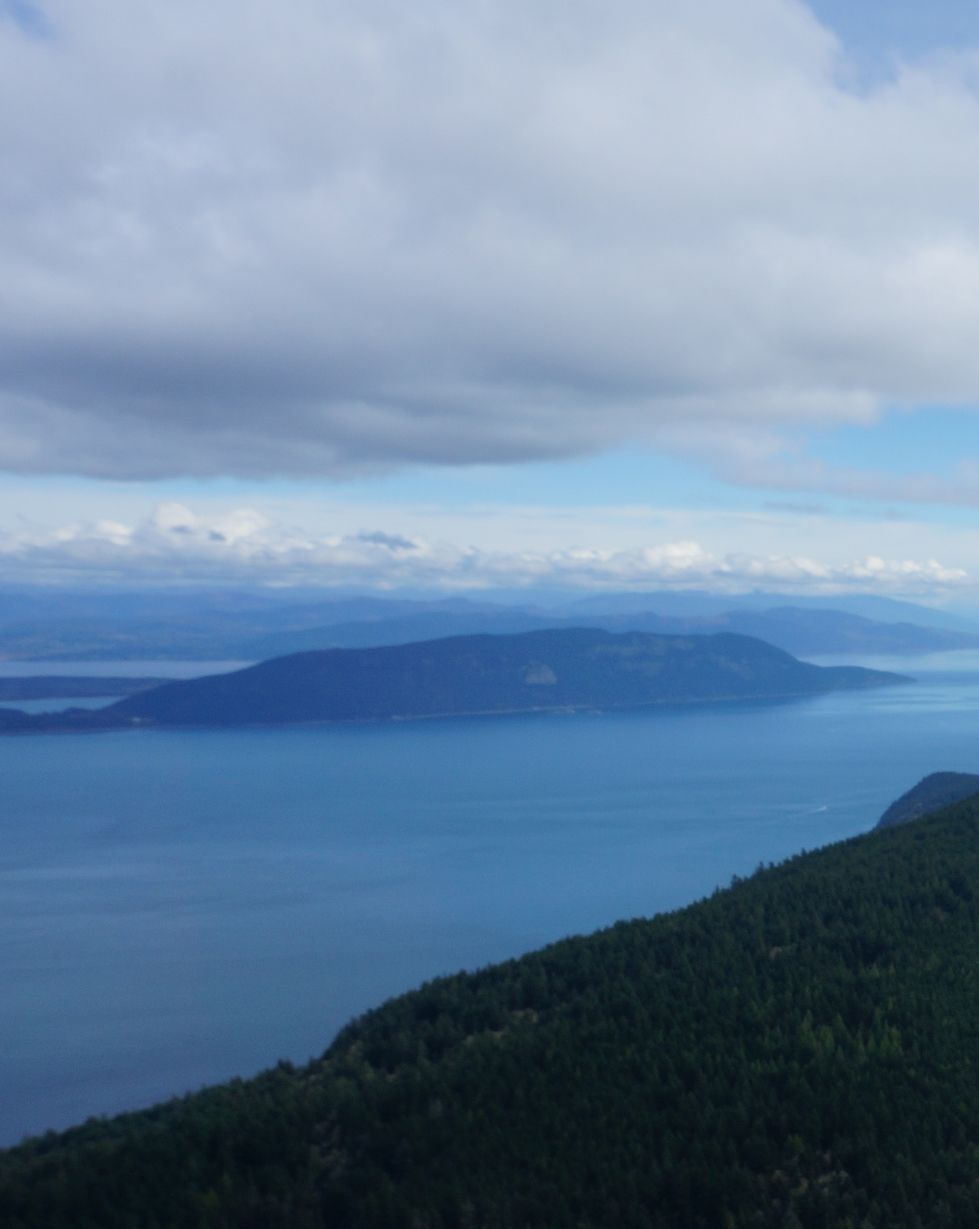 The view from the top of Mt. Constitution, on the Orcas 25k course.