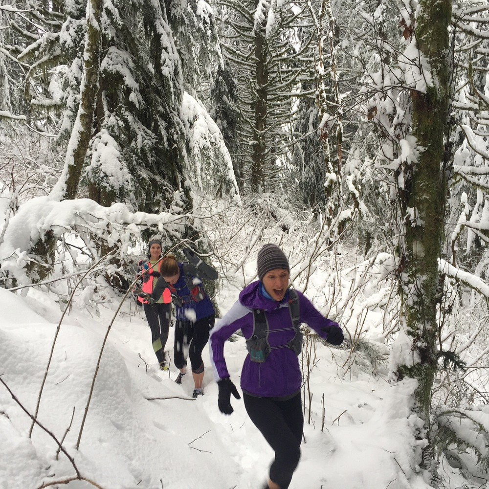 We love snow running!