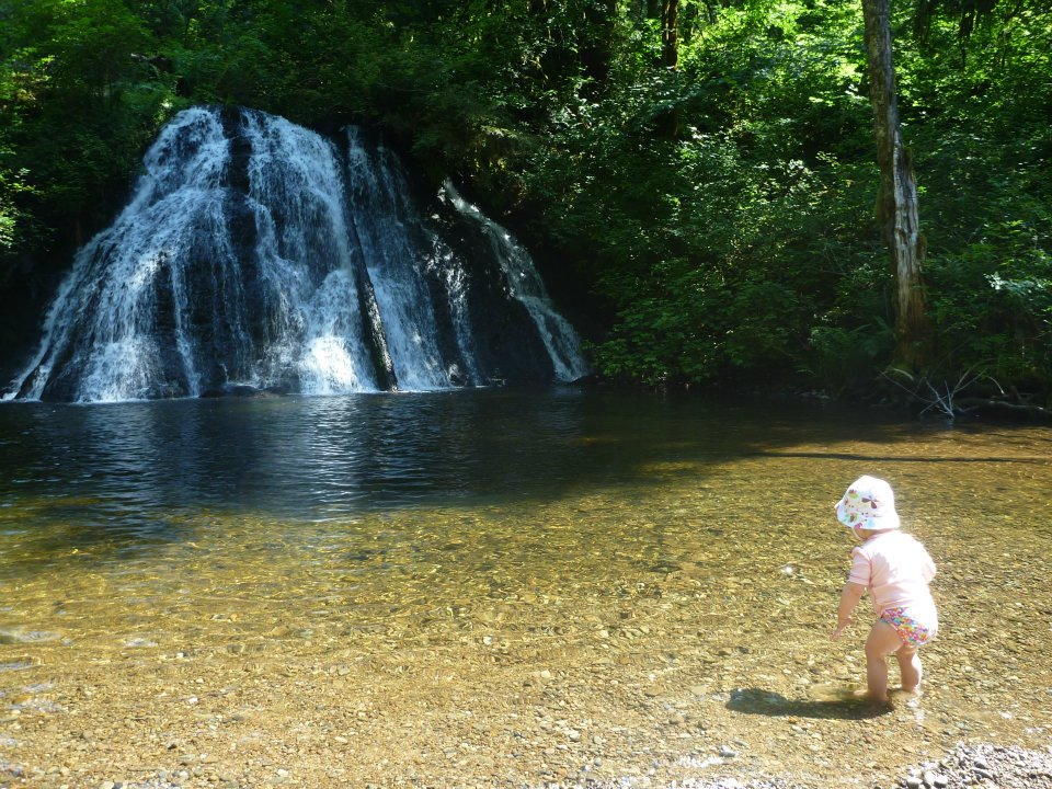 Rowan at Coal Creek Falls.