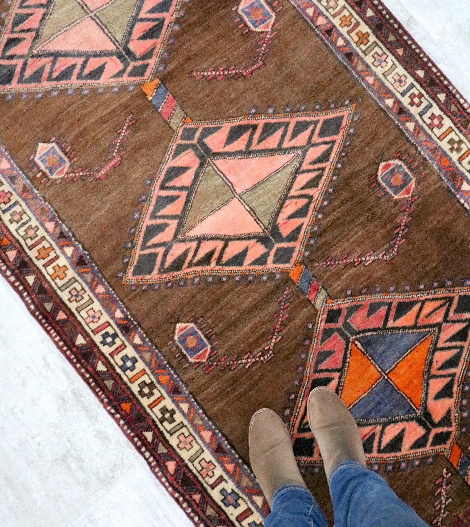 Austin Vintage Tribal Rug — BLUE SALVAGE   Vintage Rugs and Handmade ...