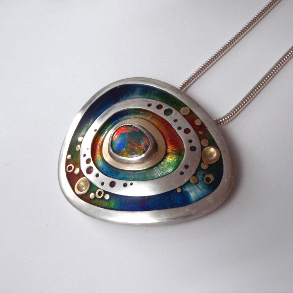 Rainbow Opal Pendant