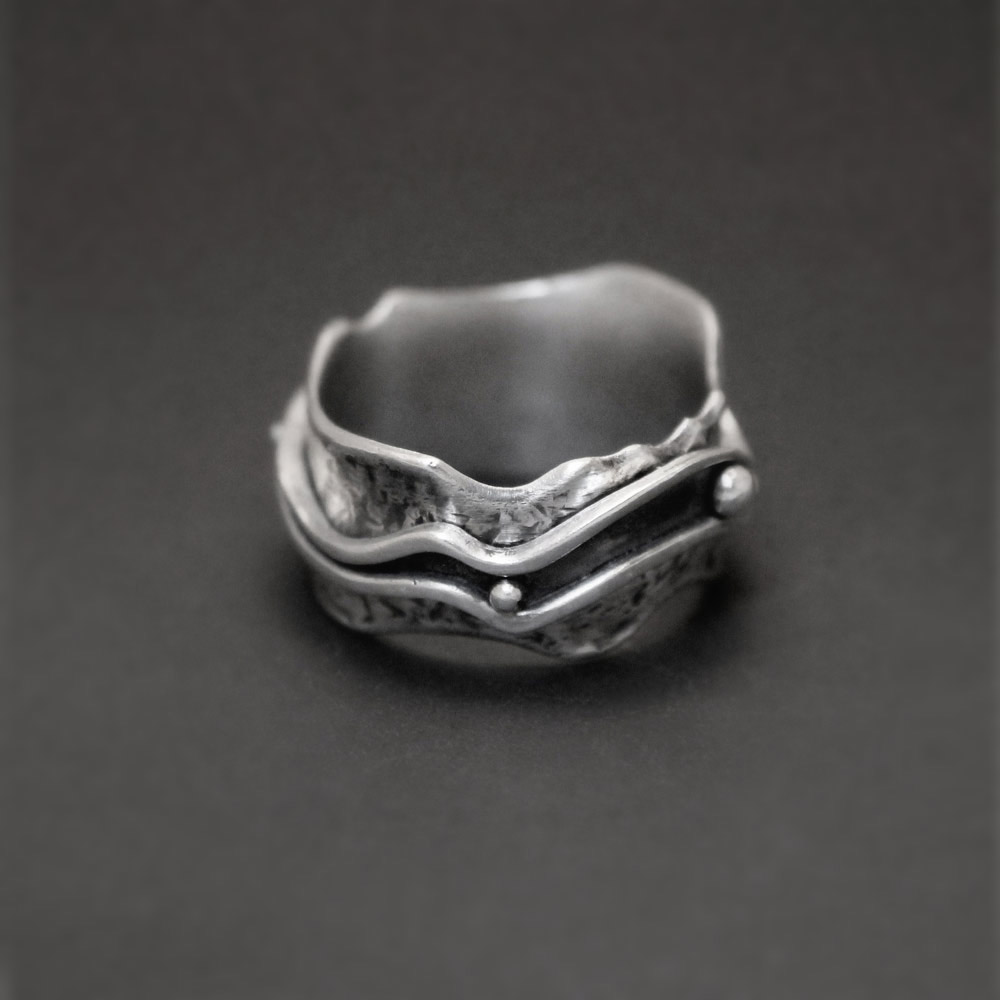 River Spinner Ring by Abi Cochran