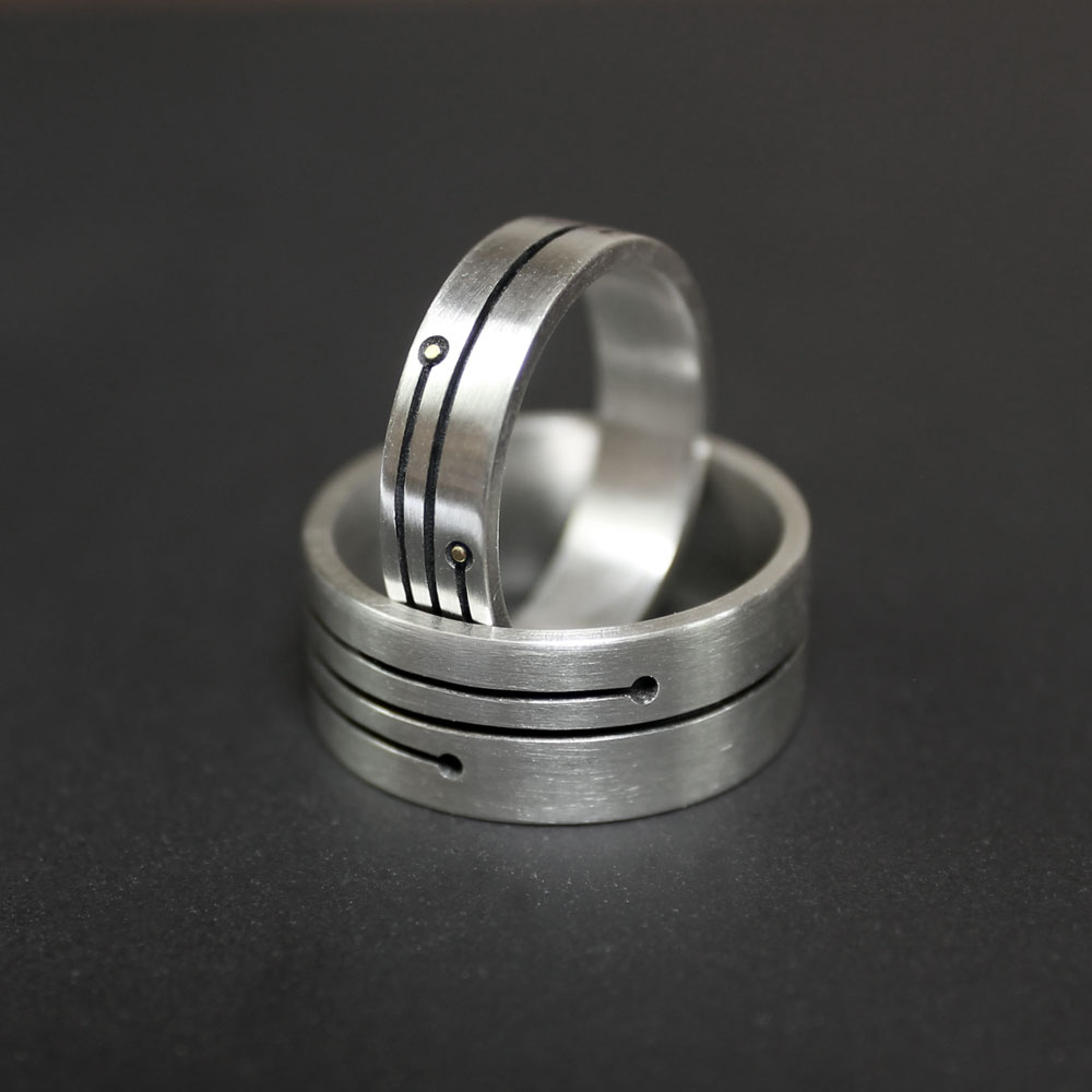 Life Lines Wedding Rings by Abi Cochran