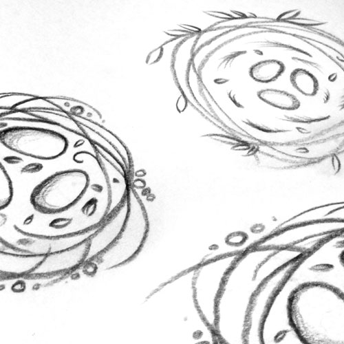 Nest sketches for my customer.