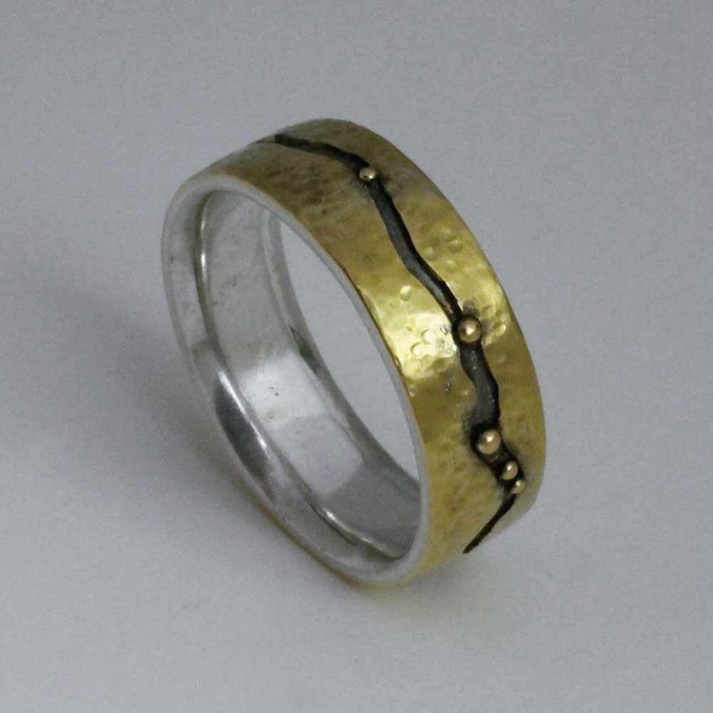 Gold River Anniversary Ring