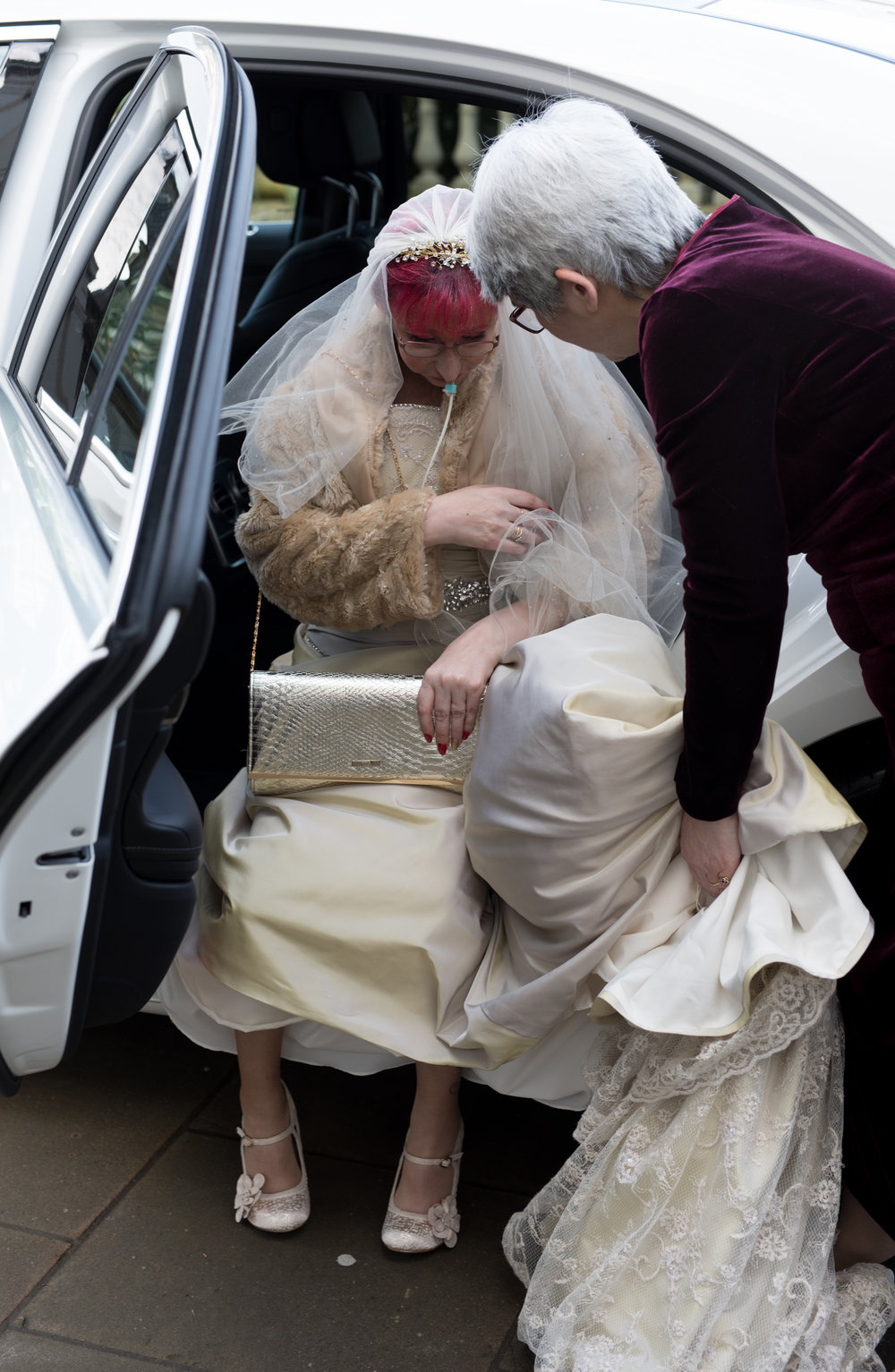 Brides with car