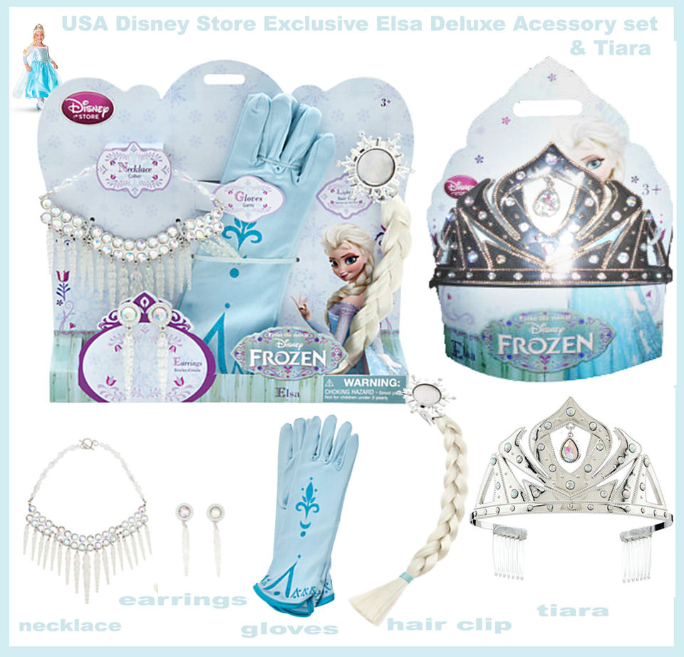 JEWELS Disney has also been selling an Elsa accessories set that includes a necklace clip on earrings and gloves. If I recall correctly it was around $20 ...  sc 1 st  Princess Rants & Frozen Costumes Review - (PART 1) - Elsau0027s Blue Gown u2014 Princess Rants