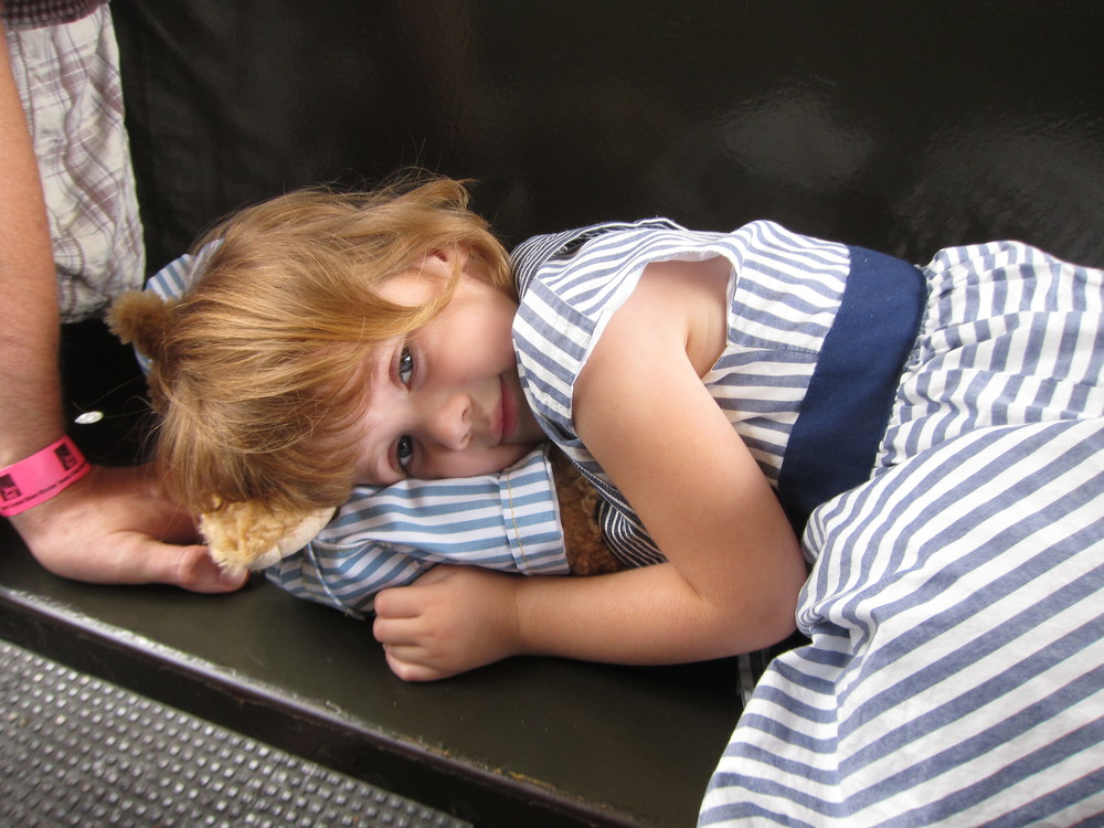 Hobo Eva... (bears make great pillow!)