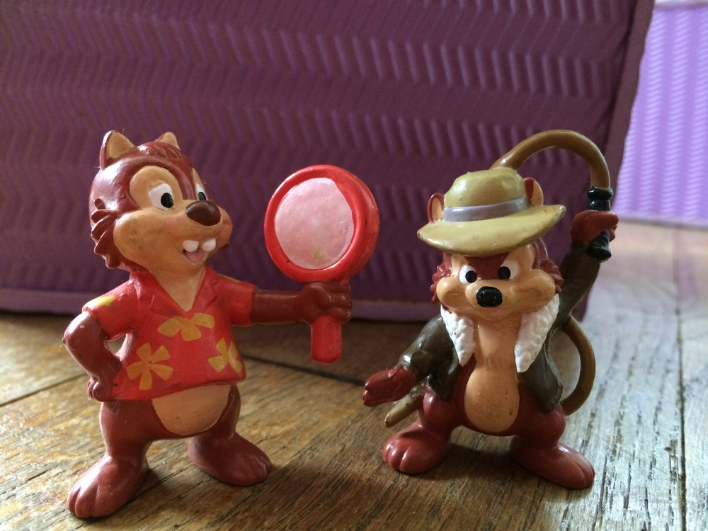 Viola has no idea why Chip & Dale are dressed up like this, but that doesn't stop her for imagining adventures for them!