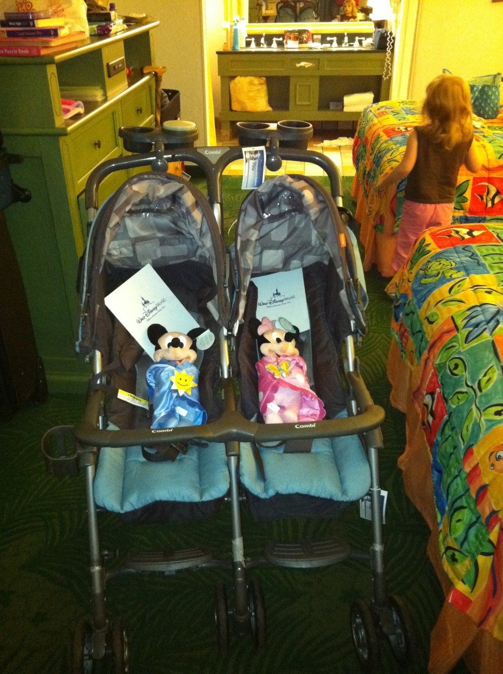I will never take a side-by-side stroller to Walt Disney World again, but that's a story for a different day...
