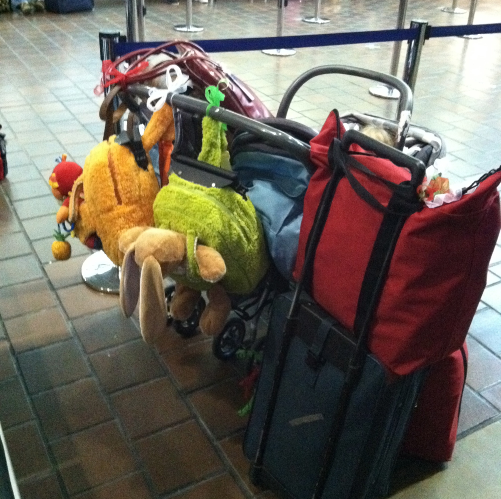 This was our carryon luggage for 2011, when we travelled by train!