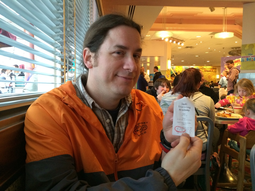Here he is with the golden ticket! I was so proud! :-)