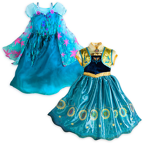 "Anna/Elsa ""2-in-1"" Frozen Fever costumes from DisneyStore.com"