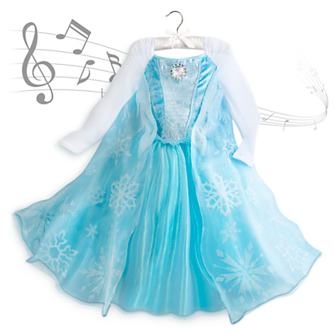 The current Elsa standard costume available from the DisneyStore.com - $49... it sings!