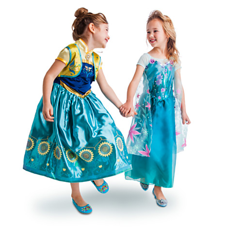 "These are the 2-in-1 ""Frozen Fever"" costume set, which were sold together for $99, making them more in line with standard costumes than LE. Released Summer 2015."
