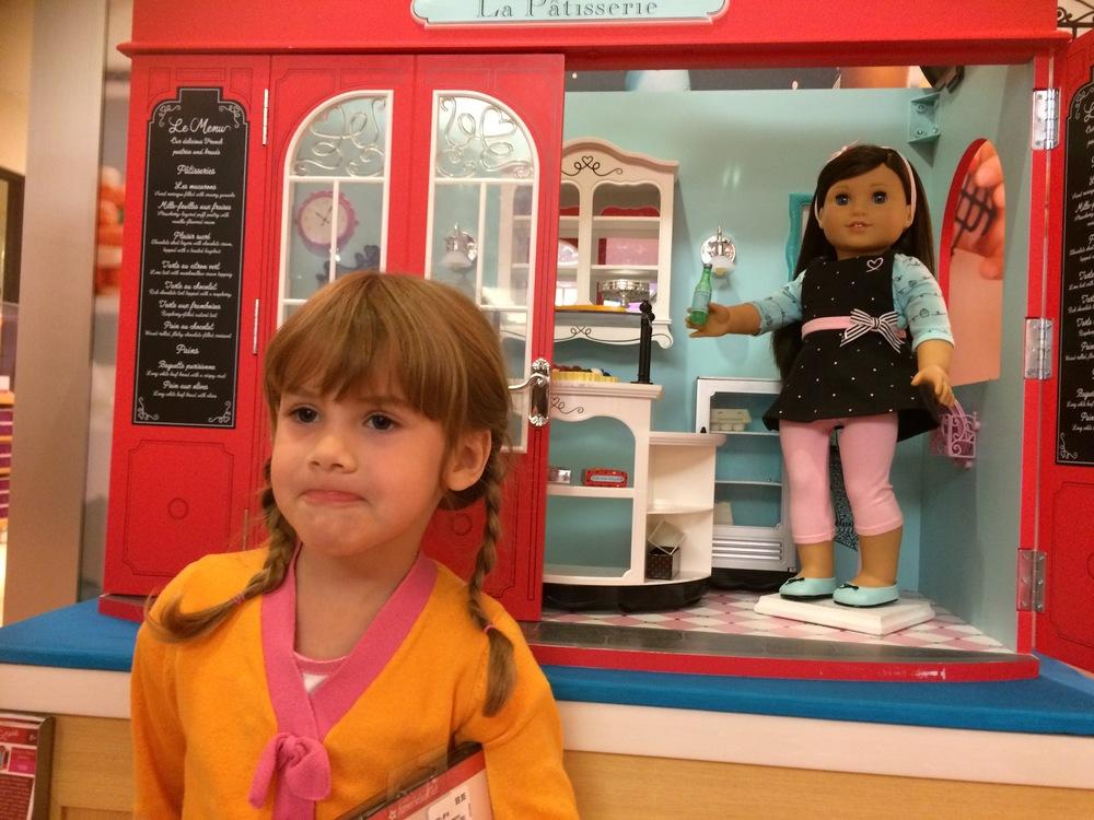 "Grace's Bakery -- that's Eva's ""please,don't you love me?"" face."