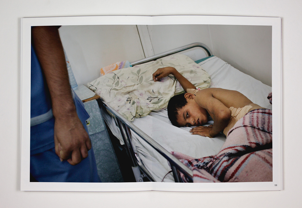 The boy was injured during clashes between the Israeli Army and Palestinian fighters along the Israeli-controlled border between Gaza and Egypt. 11 October 2003, Rafah, Gaza, Palestine