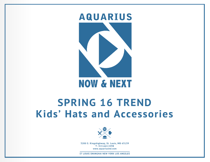 Spring 2016 Kids Accessories Lookbook