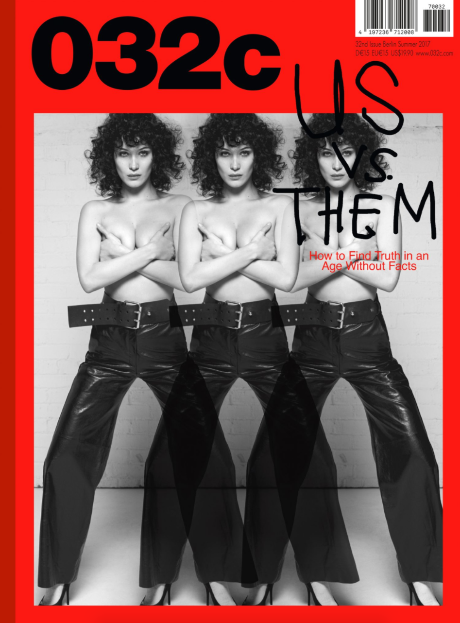 Bella Hadid by Collier Schorr - Cover Shoot for 032c