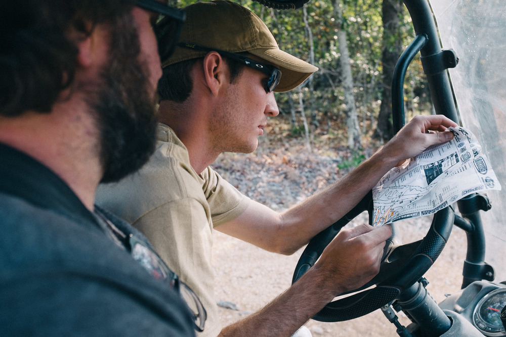 Caleb from Intimidator helps us scout the sprawling Hot Springs Off-Road Park.