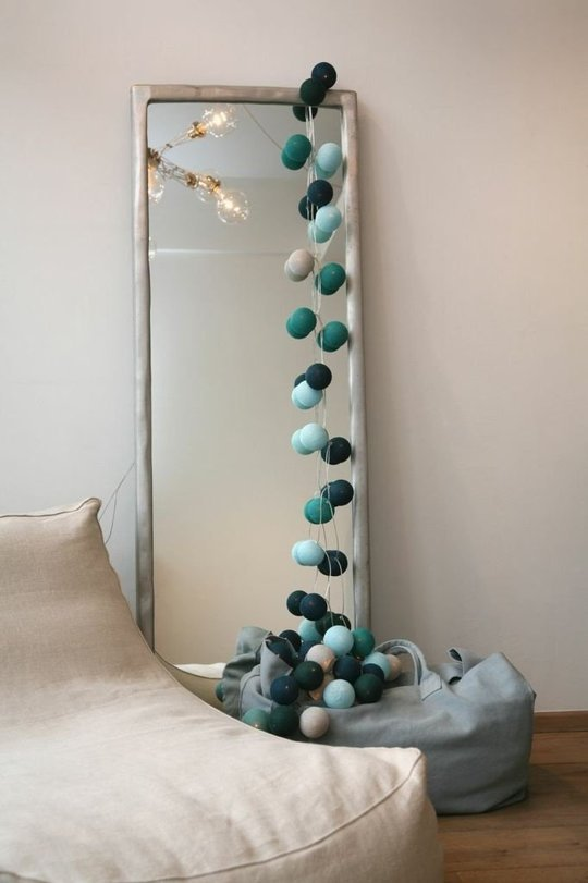 Love this on the mirror but so would my dog and cat! This is a fun idea for kids and teen rooms...oh the possibilities. Elementally Yours, Michele
