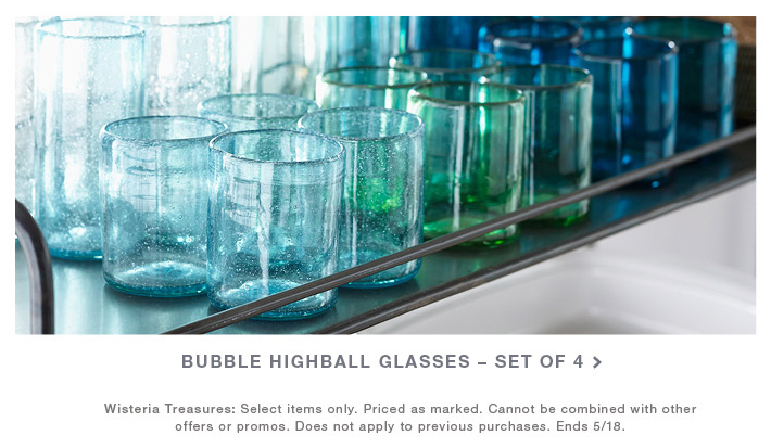 How beautiful would these look on a bar cart or an open shelf? Great for lemon water, cocktails and wine of course.
