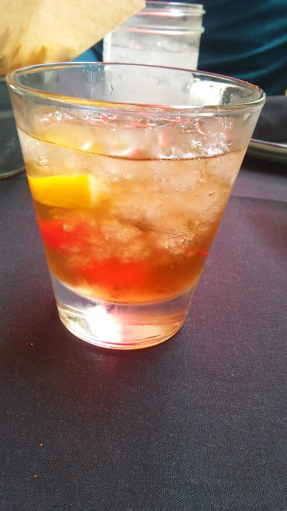 Old Fashioned -kentucky bourbon with muddled orange, cherry, simple syrup & bitters