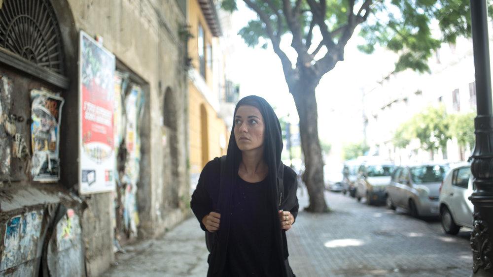 Natalia Giro en plein tournage ;-)