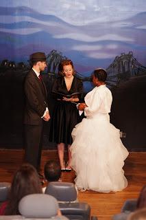 Hollywood Film Noir Themed Wedding at Rebar in Brooklyn