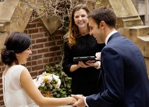 As an ordained interfaith minister in New York City, I perform religious and non-religious ceremonies and help to create a wedding ceremony that incorporates the love, beliefs, hopes, and dreams that you have with each other. My weddings have been featured in the NY Times, The Knot,Bride.com, and TLC show Four Weddings.
