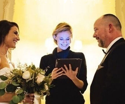 I became an officiant because I wanted to experience the positivity and joys the world has to offer first hand. I am a New York City based actor, collaborator and teacher who values each person I meet as an individual.  I work with all different types of couples to create lasting and powerful memories, with a little bit of magic.