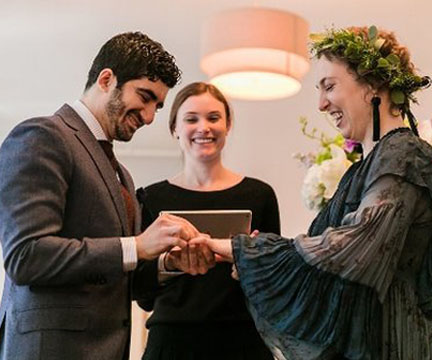 Officiating wedding ceremonies is an absolute privilege. There are few other opportunities in life where you are surrounded by such genuine and inspiring love., I find great joy in working with my couples to personalize and perfect their marriage moment. A Ceremony should reflect the couple on this incredible milestone in their journey forward together.