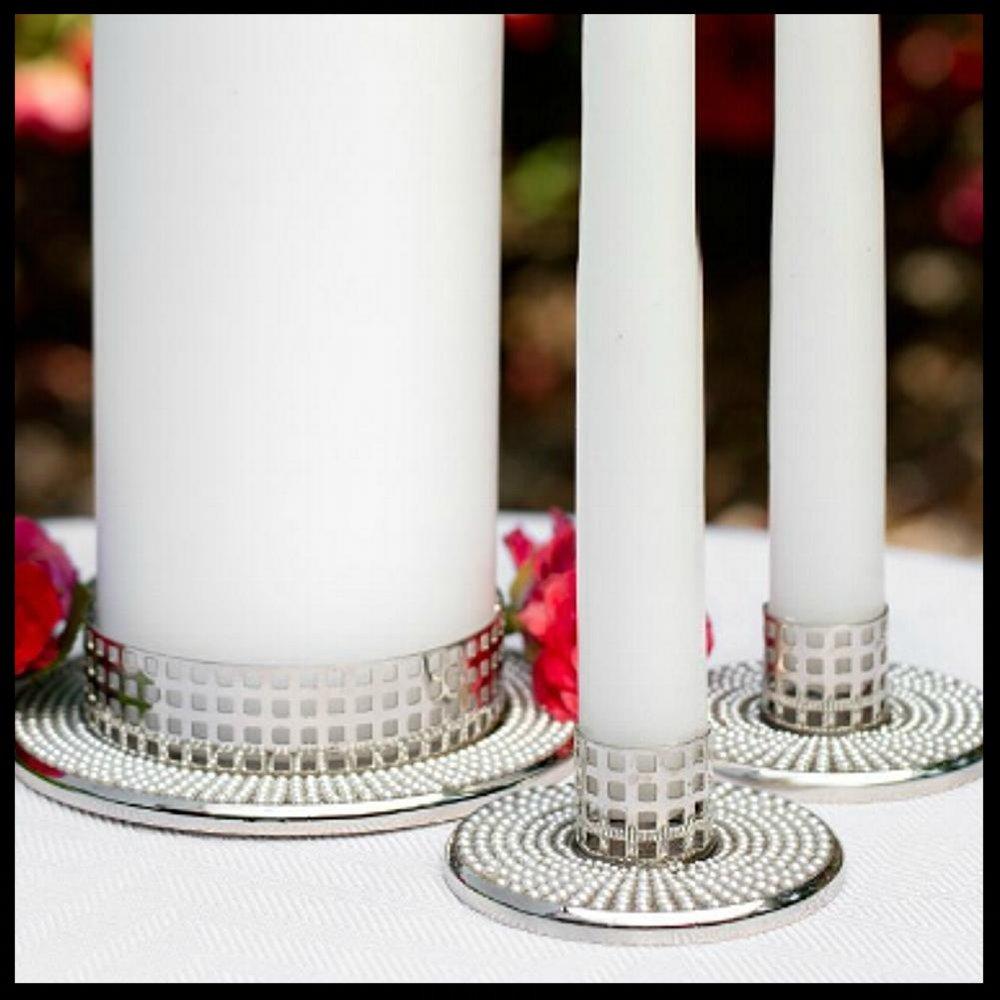 $52.95 Vintage Candle Stands with Pearl Accents