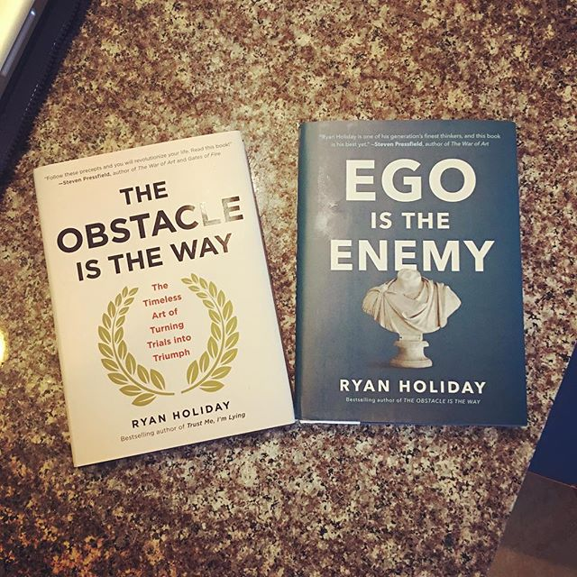 After multiple recommendations I had to pick these up. Can't wait to dig in! #braingains #egoistheenemy #readabook #stoicism