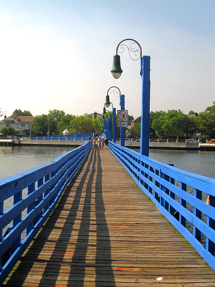 Foot bridge crossing the bay