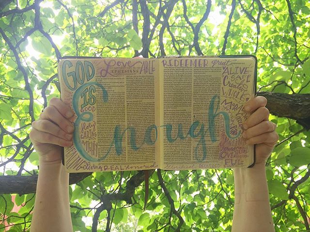 """#GodsLoveIsEnough  Show us your """"Enough"""" artwork and tell us where you've seen God's love this year! #Uplift2016"""