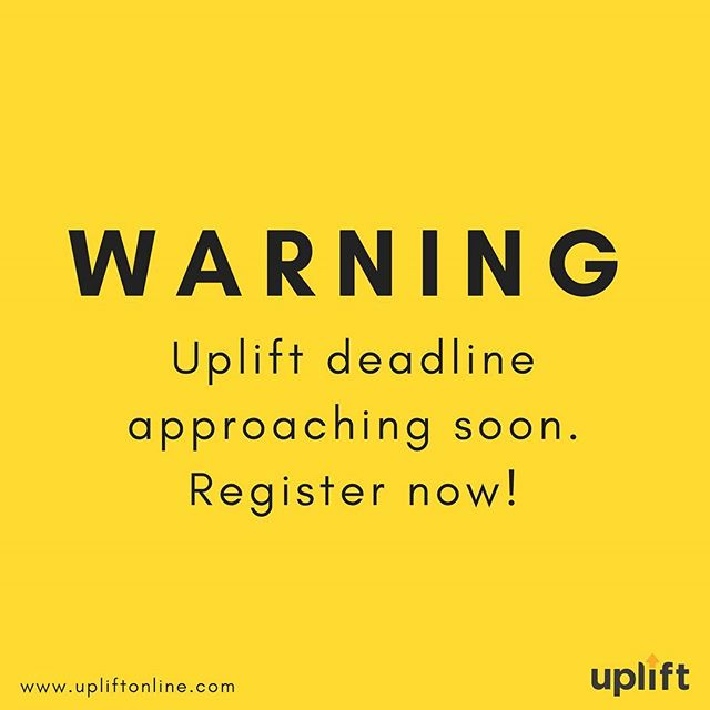Registration deadline is TOMORROW, people!! Head over to www.upliftonline.com and claim your spot for #uplift18! Link in bio.