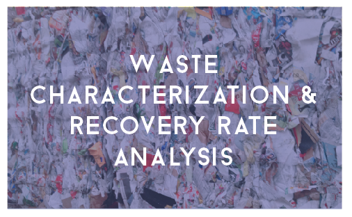 waste characterization and recovery rate